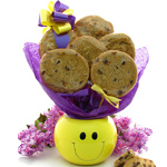 Smiley Face Planter Bouquet of Gourmet Cookies