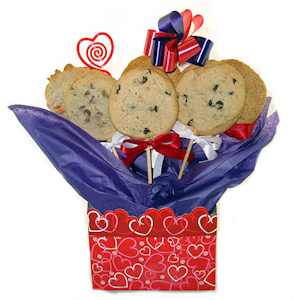 Valentine Heart Cookie Bouquet Tote imagerjs