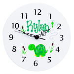 Personalized Wood Wall Clock (White or Natural)