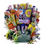Cheerful Wishes Get Well Soon Candy Bouquet