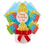 Happy Birthday to You Cutout Cookie Bouquet