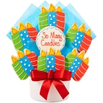 So Many Candles Cutout Cookie Bouquet