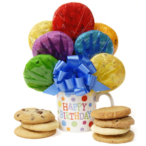 Birthday Mug Bouquet of Cookies image