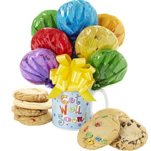 Get Well Cookie Bouquet in a Mug image