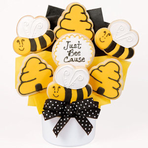Just Bee-Cause Gourmet Cookie Bouquet image