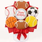 Happy Birthday Sports Gourmet Cookie Bouquet