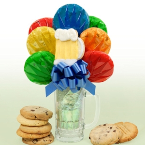 Father's Day Beer Mug Bouquet image