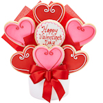 Fancy Hearts Valentine's Day Cookie Bouquet