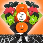 Boo to You Halloween Cookie Bouquet