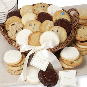 Gourmet Wicker Cookie Basket image