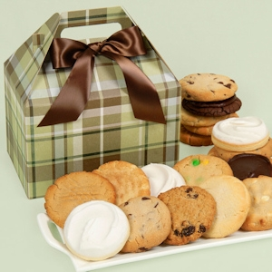 Perfectly Plaid Gourmet Cookie Gift Box image