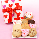 Valentine Cookies in Hearts Gift Box