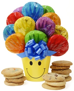 Smiling Cookie Bouquet image