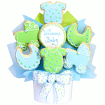 It's A Boy Baby Cookie Bouquet