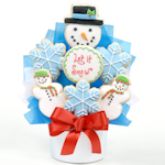 Let It Snow Holiday Cookie Bouquet
