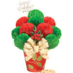 Happy Holidays Cookie Bouquet in Holly Pot