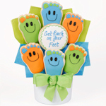Back On Your Feet Get Well Cookie Bouquet