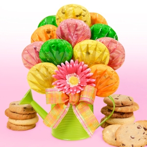 Watering Can Gourmet Cookie Bouquet image