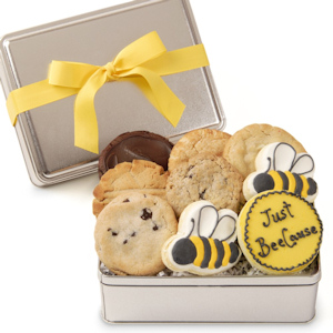 Just Bee-Cause Gourmet Cookie Gift Tin image
