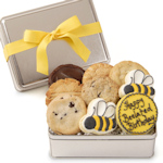 Happy Bee-lated Birthday Cookie Gift Tin