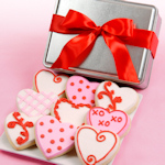 Heart-Shaped Valentine Cookies Tin