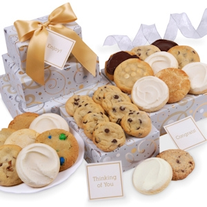 Dazzling Swirls Trio of Cookie Gift Boxes image