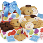 Celebration Circles Brownies & Cookies Gift Tower