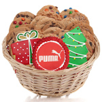Corporate Christmas Gourmet Logo Cookie Gift Basket