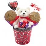 Valentine Bear Cookie Pot