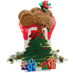 Christmas Tree Cookie Tote Bouquet