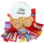Happy Holidays Cookie & Snack Tin