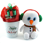 Smiling Snowman with Holiday Cookie Planter