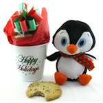 Holiday Penguin & Cookie Pot