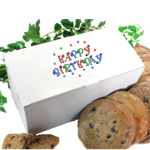 Happy Birthday Cookies in a Gift Box