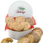 Happy Holidays Gourmet Cookie Tin
