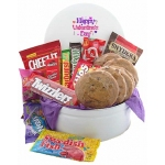 Valentine Cookies and Goodies Snack Tin