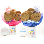 New Baby Cookie Tin Bouquet
