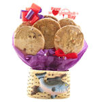 Valentine Fishing Planter Cookie Basket