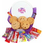 Love Themed Cookie and Snack Tin