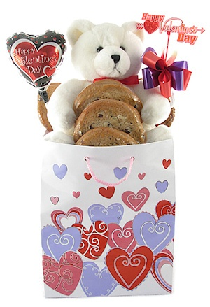Sweetheart Bear Valentine Cookie Bouquet image