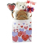 Sweetheart Bear Valentine Cookie Bouquet