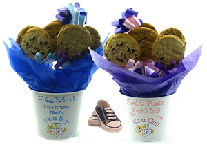 Personalized Baby Cookie Bouquet image