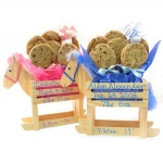 Wooden Horse Baby Cookie Bouquet