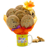 Birthday Mug Cookie Gift Bouquet