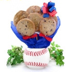 Baseball Planter Edible Cookie Bouquet