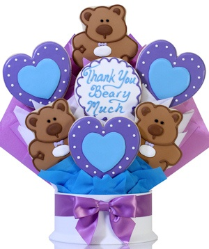 Teddy Bear Cookie Gift Bouquet Delete image