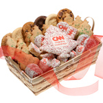 Custom Logo 36 Piece Christmas Cookie Basket