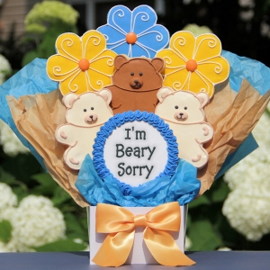 I'm Beary Sorry Cookie Bouquet image