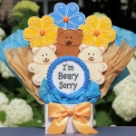 I'm Beary Sorry Cookie Bouquet