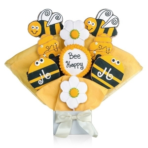 Bee Happy Cookie Bouquet image